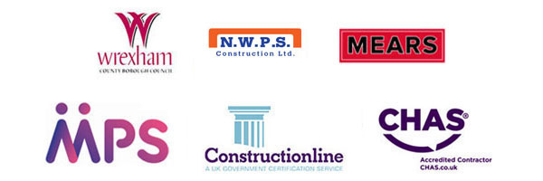 Wrexham County Borough Council, N.W.P.S Construction Ltd, Mears, MPS, Constructionline, CHAS Accredited Contractor